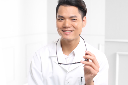 family physician: Handsome young doctor