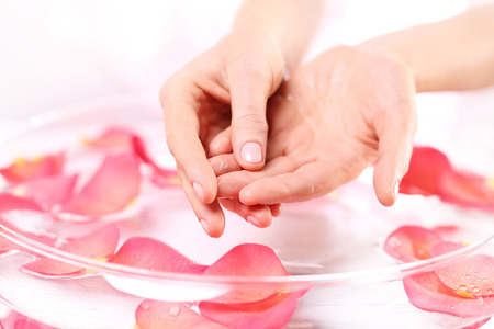 La acupresión, masaje de manos reflexología, masaje de reflexología mano