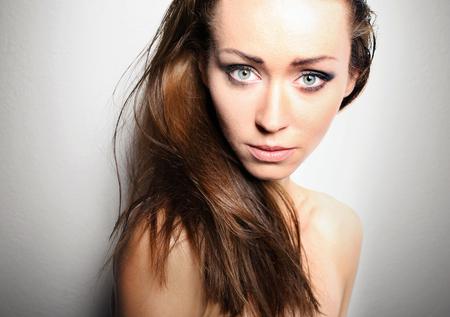 women subtle: beautiful natural women. Stock Photo