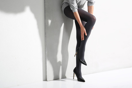 Beautiful woman in tights. Stock Photo