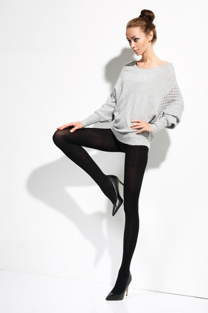 shapely legs: Woman in underwear