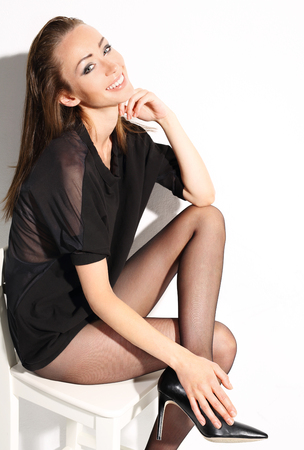 shapely legs: beautiful woman