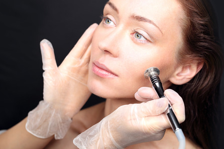 Diamond microdermabrasion Stock Photo