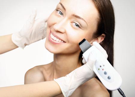 cosmetic surgery: Cavitation peeling, beauty treatment Stock Photo