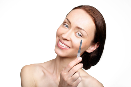 beauty parlor: Beauty medicine, beauty parlor, peeling of procedure Stock Photo