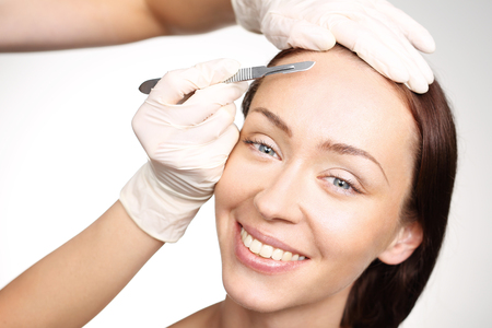 beauty salon face: Plastic surgery, a woman in the clinic of aesthetic surgery