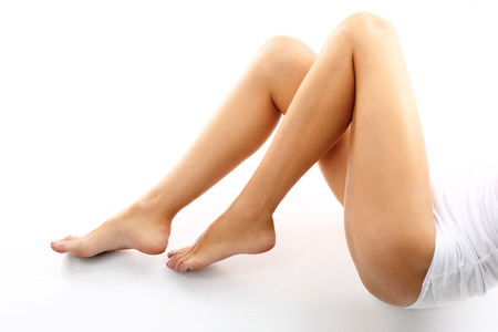 Beine einer Frau, schöne glatte Haut