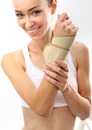 tourniquet: Injury pond palm, wrist injury Stock Photo