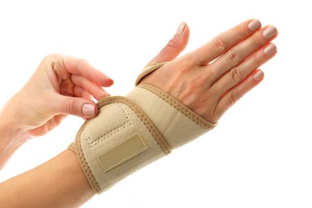 Rehabilitacja nadgarstka, stabilizator ubieranie Zdjęcie Seryjne