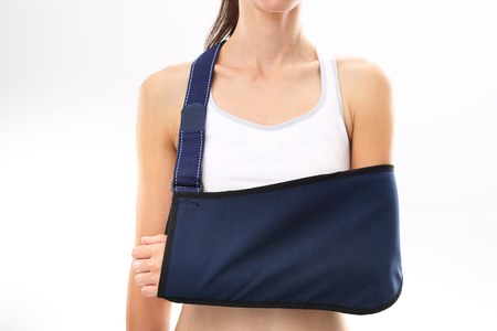 Hand in a sling