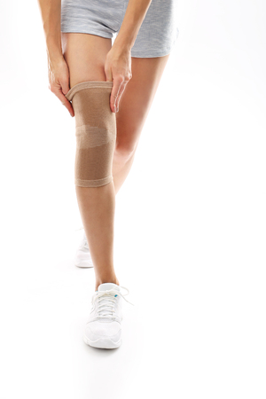 knee: Knee injury, tourniquet bandage Stabilizing