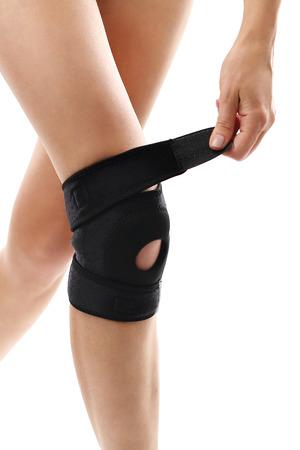 orthopedics: Par�ntesis de rodilla, rehabilitaci�n y ortopedia Foto de archivo