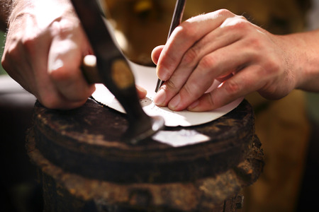 cobbler: Shoemaker. Cobbler shoemaker sews elegant shoes