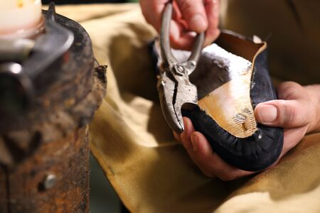 Handsewn shoes. Shoemaker.