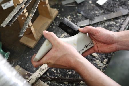 suede belt: Shoemakers workshop, append heels