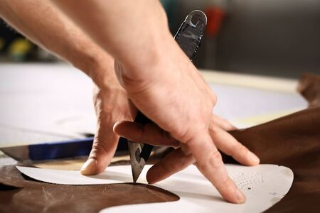 cutting: Designing clothes, cutting template Stock Photo