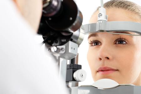눈 검사. 스톡 콘텐츠