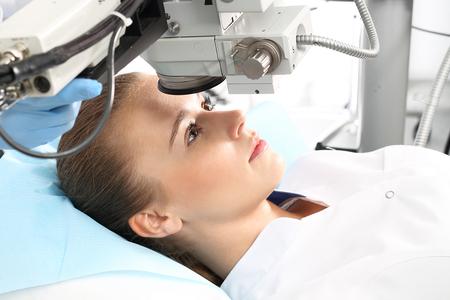 レーザー視力矯正。眼科医