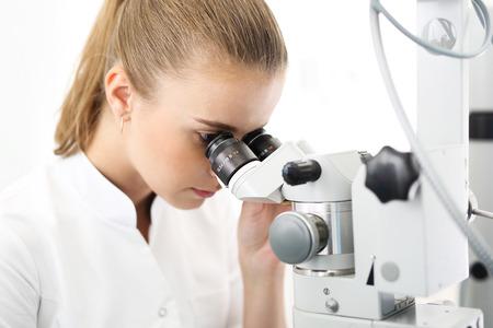 refractive: Eye surgery, eye clinic. Stock Photo