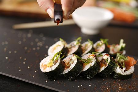 Japanese restaurant, sushi dish