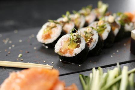 sushi plate: Sushi. Stock Photo