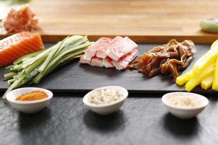tuna mayo: Japanese restaurant, sushi Stock Photo