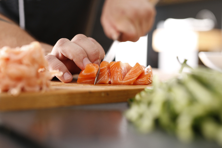 replaces: Sushi-making course Stock Photo