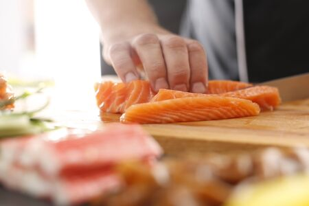 replaces: Cuisines of the world, Japanese sushi Stock Photo