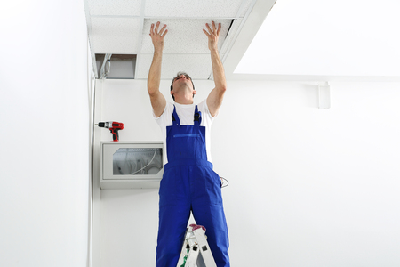 Electrician repairs installations