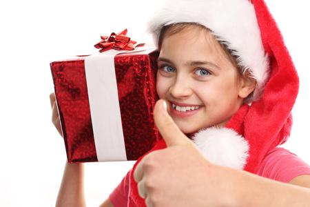 happynes: Christmas gifts, joy child Stock Photo