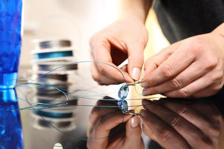 swarovski: Jewelry, Swarovski crystal Stock Photo