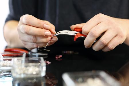 jewelery: Workshop jewelery, working on an exclusive jewelry
