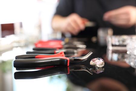 personally: Workshop jewelery Stock Photo