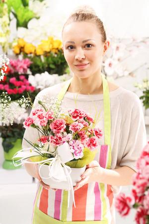 floristic: Floral composition on a sponge floristic Stock Photo