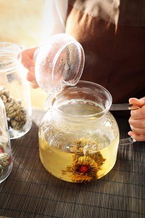 blooming: Blooming tea.