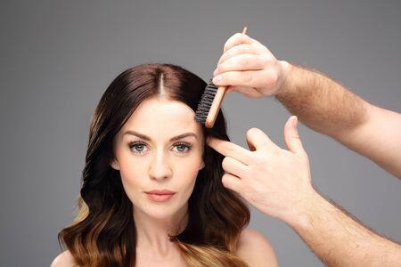 strong women: Beautiful healthy hair.