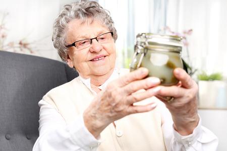 the great grandmother: Grandmas pantry, cucumbers in a jar