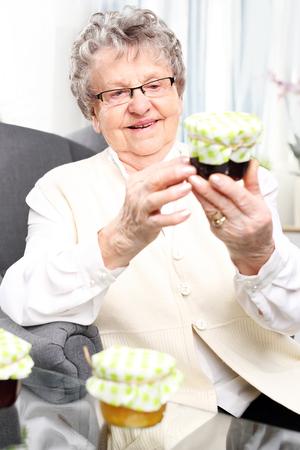 preserves: Grandmas preserves, delicious jams.