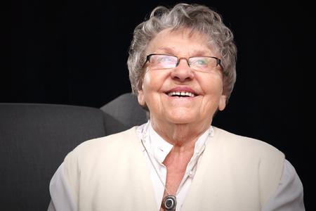 elderly woman: happy grandmother Stock Photo