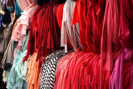 knitwear: Colorful knitwear. Workshop designer clothes