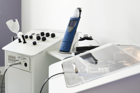 Equipment diagnostic hearing tests. Equipment laryngological for hearing tests Banque d'images