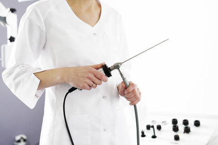 Laryngologist doctors office with the hardware specialist Stock Photo