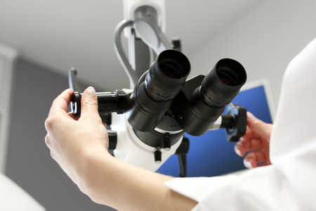 endoscopic: Laryngologist doctors office with the hardware specialist Stock Photo
