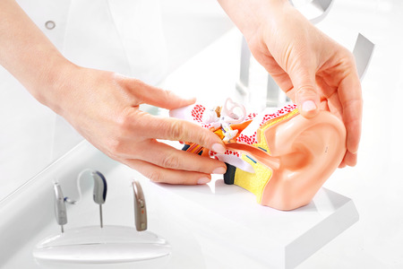 Otolaryngologist, selection of hearing aid.