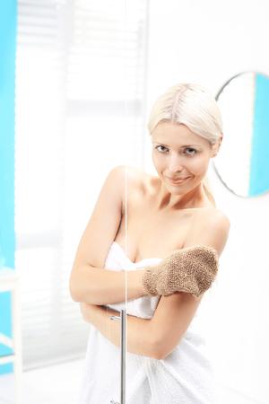 Morning shower.