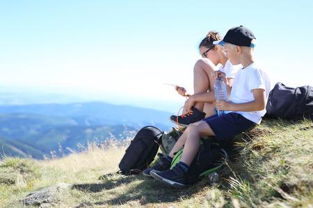 Mountain expedition. Stock Photo