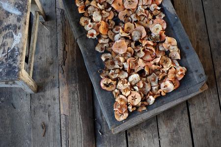 frutas deshidratadas: Frutas secas. Sano secado natural de la fruta. Foto de archivo