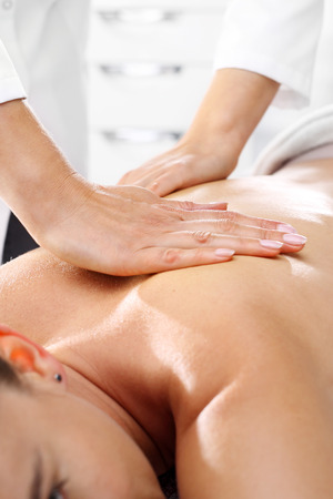 massaged: Manual back massage. lymphatic drainage