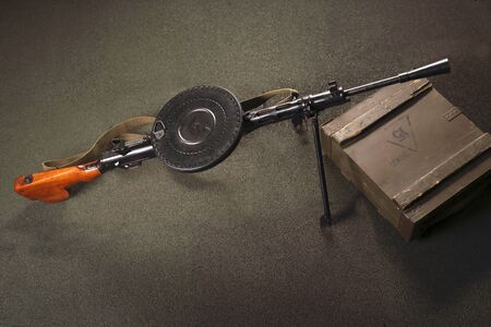 armament: Machine gun. Stock Photo