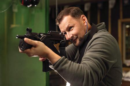 glock: Gun. Sport shooting range.